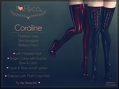 Coraline (Ainadara Resident) Tags: i3f i3fco maitreya fashion original mesh event exclusive slink hourglass belleza freya latex lace bow gloss fetish stockings socks