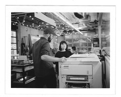 Favorite Goofballs (scottboms) Tags: dir arl analogresearchlab facebook printmaking risograph polaroid npc195 analog film instantfilm menlopark california