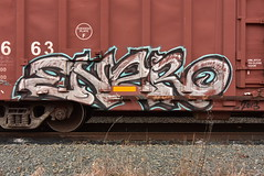 ENERO (TheGraffitiHunters) Tags: graffiti graff spray paint street art colorful benching benched freight train tracks boxcar enero
