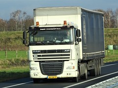 DAF XF105 spacecab from Teger Transport Holland. (capelleaandenijssel) Tags: bzdn11 truck trailer lorry camion lkw netherlands nl flatcab