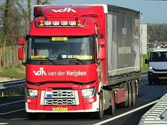 Renault T-range low from van der Heijden Holland. (capelleaandenijssel) Tags: 64bfp3 truck trailer lorry camion lkw netherlands nl hapert eersel