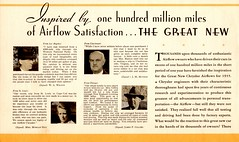 The Great New Chryslers for 1935 (Jasperdo) Tags: brochure pamphlet chrysler automobile car vehicle testimonials letters customers