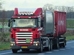 Scania R-series drawbar from Rouwmaat Holland. (capelleaandenijssel) Tags: bvvj81 truck trailer lorry camion lkw groenlo netherlands nl