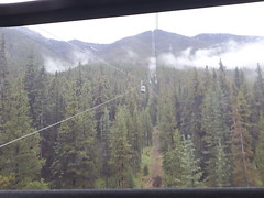 Sulfur Mountain gondola, Banff, Alberta, Canada (JarvisEye) Tags: gondola pod car cable sulfur mountain banff alberta canada high scene scenery tree cloud