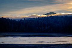 Alder Lake in Late Afternoon Light (rich trinter photos) Tags: mountrainiernationalpark winter eatonville washington unitedstatesofamerica alderlake nisquallyriver landscape trinterphotos northwest