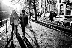 Friendship (Lasorigin) Tags: architecture bâtiment noirblanc strasbourg monochrome bag hat car building pavement water shadow road trees leaves sun sac chapeau voiture pavé eau ombre route arbres feuilles