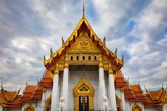 Wat Benchamabophit - Marble Temple (grab a pic) Tags: canoneos5dmarkiv canon eos 5d grabapic bangkok bangkokmetropolitanregion thailand 2019 watbenchamabophitdusitvanaram marbletemple buddhist temple building architecture