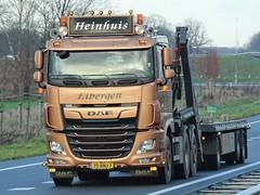 DAF XF106 drawbar from Heinhuis Eibergen Holland. (capelleaandenijssel) Tags: 75bnj7 truck trailer lorry camion lkw netherlands nl