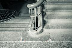 Treppenhaus --- Stair case (der Sekretär) Tags: boden detail dreck fussboden geländer mosaik schmutz staub stein stufen treppe treppenhaus abandonned alt closeup dirt dirty dreckig dust dusty floor lostplace mosaic old railing schmutzig staircase stairs stairway stairwell staubig steps stone urbanexploration urbex well