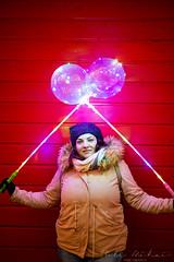Happy Christmas (Bobe Mihai) Tags: christmas happy woman portrait color colour girl parrty bokeh canon wall face