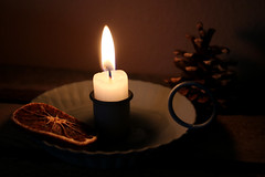 scented candle (Ralaphotography) Tags: winter light photography canon season candle scent pine cone orange christmas december home decor