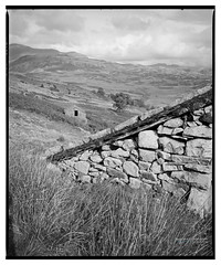 H_Boot_HP5_09 (D_M_J) Tags: boot eskdale lake district shelters sheepholds sheep lakedistrict lakeland cumbria north west uk england film camera medium format 120 roll 6x7 mamiya rb67 ilford hp5 plus 400 kodak hc110 epson v850 vuescan black white bw blackandwhite mono monochrome