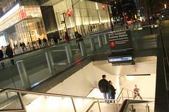 World Trade Center at Night (wyliepoon) Tags: new york city world trade center lower manhattan wtc skyscraper cortlandt station subway mta