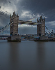 i know a place where rainbows can touch your soul (Wizard CG) Tags: london tower bridge long exposure sun set architecture slow shutter speed light trails suspension river thames iconic landmark city skyline tourist ngc world trekker micro four thirds 43 m43 olympus attraction epl7 road blur building railroad