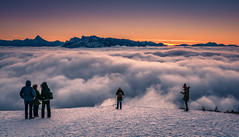 Fog (gregor158) Tags: fog mountains mountain sunset snow winter austria österreich salzburg travel places landscape people