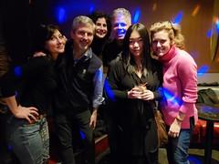 Classmates At Karaoke (Joe Shlabotnik) Tags: miranda darenc davina galaxys9 december2019 karaoke 2019 peter clarak dora cameraphone