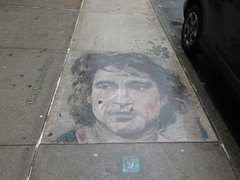 IMG_2158 (Brechtbug) Tags: 2019 sidewalk portrait street art by hani color chalk drawing broadway graffiti new york city concrete west side walk nyc december 12142019