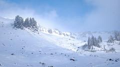 Blowing Clouds (rich trinter photos) Tags: mountrainiernationalpark winter ashford washington unitedstatesofamerica landscape mountains alpine trinterphotos northwest storm