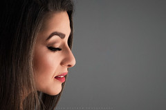 In deep thoughts (Peter Nyström photography) Tags: face beauty woman model modelphotography peternyströmphotography closeup softlight portrait