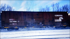 (timetomakethepasta) Tags: nyc conrail boxcar freight train clean