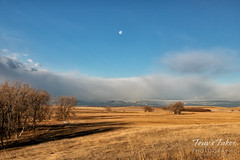 December 14, 2019 - The Front Range, the Flatirons and a setting moon. (Tony's Takes)