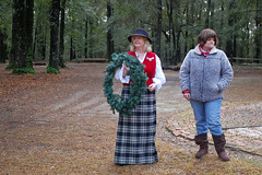 Harmony Hall Wreath Laying Ceremony. (dccradio) Tags: trees tree forest nc woods ceremony northcarolina wooded whiteoak harmonyhall bladencounty harmonyhallplantation harmonyhallplantationvillage christmas winter people woman man lady nikon december afternoon weekend saturday saturdayafternoon goodafternoon christmasevent wreathlaying dslr d40