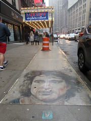 IMG_2160 (Brechtbug) Tags: 2019 sidewalk portrait street art by hani color chalk drawing broadway graffiti new york city concrete west side walk nyc december 12142019