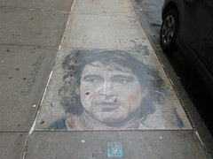 IMG_2159 (Brechtbug) Tags: 2019 sidewalk portrait street art by hani color chalk drawing broadway graffiti new york city concrete west side walk nyc december 12142019