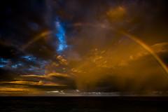 The Sky isn't the Limit (Errol_S) Tags: tropical oahu usa insane sunrisetime beach arcenciel rainbow leicam10p hawaii clouds shower 21mm summilux colors