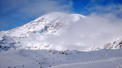 Mount Rainier Appears (rich trinter photos) Tags: mountrainiernationalpark winter ashford washington unitedstatesofamerica landscape mountains alpine trinterphotos northwest
