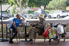 The Professor and Acrobat (goericke.ralf) Tags: california encinitas streetphotography urban people