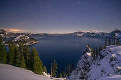 Moonlit Crater Lake (Ant Fisher) Tags: nightscape oregon craterlake stars wizard