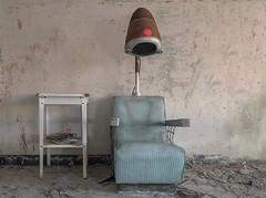 Hair today, gone tomorrow. (Ewski Images) Tags: sony urbex antique classic vintage dryerchair hairdryer salon asylum hospital exploration explore abandoned decay