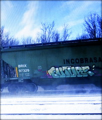 future (timetomakethepasta) Tags: future freight train graffiti art green hopper brix incobrasa