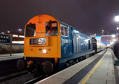 20189 (R~P~M) Tags: train railway diesel locomotive 20 vintagetrains polarexpress birminghammoorstreet birmingham westmidlands night england uk unitedkingdom greatbritain