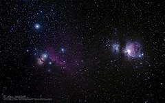 Orion (M42), Horsehead & Flame Nebula (AG_Alex) Tags: olympus omd em5 mk ii zuiko digital ed 35100mm f20 astrotrac tt320xag sirui r5214x manfrotto 405 pro orion nebula horsehead m42 messier pluto trigger