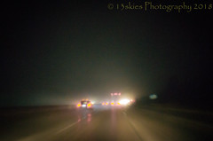 Inter Galactic Road Travel (HSS) (13skies) Tags: galactic road nighttime distortion distorted travel lights night distance happyslidersunday post software blurs effect hss