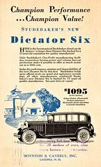 1927 Studebaker Dictator Six 4-Door Sedan (aldenjewell) Tags: 1927 studebaker dictator six 4door sedan postcard