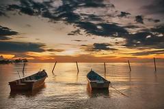 IMG_2590 ~ orange (achem74) Tags: sunset sundown beach cloud sea sky coast portdickson negerisembilan malaysia travel place trip canon eos700d canoneos700d sigmalens 10mm20mm wideangle