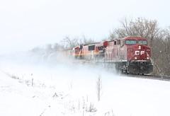 (MN transfer) Tags: canadianpacific railway cp cprail railroad freight train oil empty tank tanks tankcars riversub minnesota cp8738 ge generalelectric gevo es44ac locomotive december14th2019