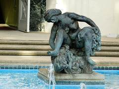 Crouching Bather (EmperorNorton47) Tags: universityofsoutherncalifornia usc losangeles california photo digital autumn fall exterior publicart university campus statue woman bather antoinebourdell bronze