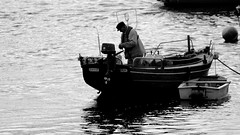 Fisherman (patrick_milan) Tags: ship boat man fisher eau water marine portsall brest buoy buoyant