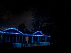 Holiday Lights (jolynne_martinez) Tags: kansascity mo unitedstatesofamerica house christmas home holiday light lights tree sky dark night geese migrating googlepixel utata:project=tw712