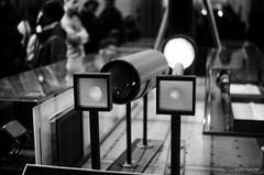 Projections (markjwyatt) Tags: kodakretinareflexiv schneiderkreuznach trix monochrome film analog 50mmf19xenon california griffith observatory losangeles availablelight planetarium kodak