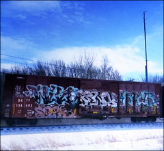 spek - win - fowl - sicr (timetomakethepasta) Tags: spek win fowl sicr freight train graffiti art bkty boxcar
