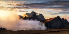 Greg (SharonWellings) Tags: dolomites italy hiking sunset mountains light autumn fall landscapes