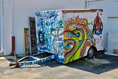 Graffiti Trailer, Galesburg, IL (Robby Virus) Tags: galesburg illinois il graffiti tag mya here trailer