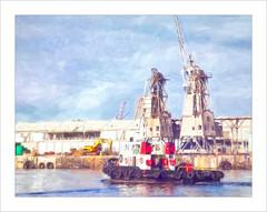 Kestrel (Daniela 59) Tags: harbour boat capetown capetownharbour kestrel tugboat sliderssunday hss topazstudio2