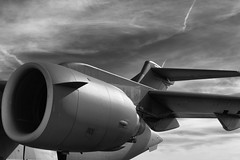 Sky Machine (rikioscamera) Tags: longbeach longbeachairport usairforce aircraft airplane bw blackandwhite clouds d750 lightroom military monochrome nikon silverefexpro sky festivalofflight boeingc17globemaster