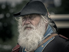 Frenchie (Andy..D) Tags: worcester d500 spetchley spetchleypark reenactment fjr5 portrait beard french waterloo napoleonic oldguard hat uniform